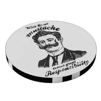 Con el gran bigote viene la gran responsabilidad fichas de póquer