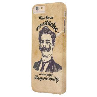 Con el gran bigote viene la gran responsabilidad funda para iPhone 6 plus barely there