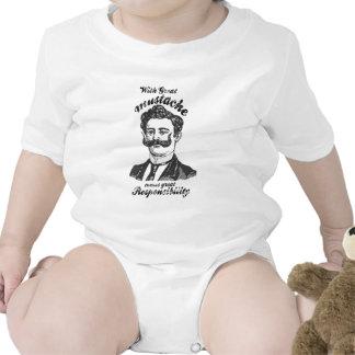 Con el gran bigote viene la gran responsabilidad trajes de bebé