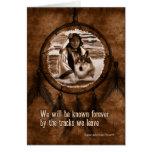 Con el lobo Dreamcatcher del nativo americano de Tarjeta De Felicitación