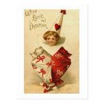 Con el payaso de la tarjeta del día de San Valentí Tarjetas Postales