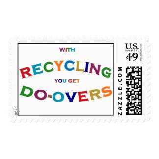 con el reciclaje de usted consiga hacen el sello d