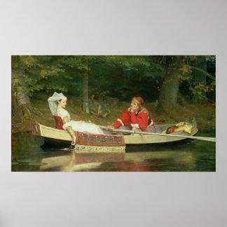 Con el río, 1869 póster