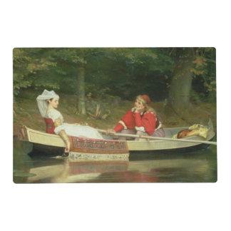 Con el río, 1869 tapete individual