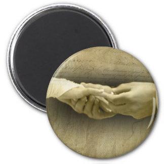 Con este anillo, amor romántico del boda del vinta imán redondo 5 cm