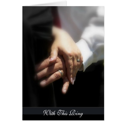 Con este anillo felicitación