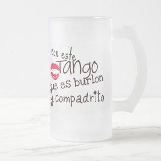 Con este Tango Frosted Glass Beer Mug