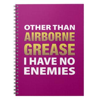 Con excepción de la grasa aerotransportada no teng cuaderno