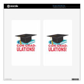 Con-Grad-Ulations Kindle Fire Skin