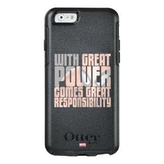 Con gran potencia viene la gran responsabilidad funda otterbox para iPhone 6/6s