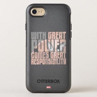 Con gran potencia viene la gran responsabilidad funda OtterBox symmetry para iPhone 7