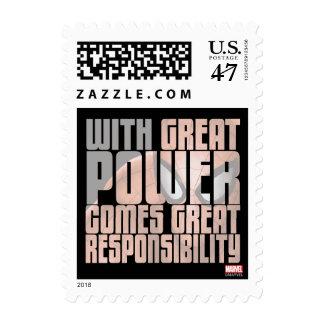 Con gran potencia viene la gran responsabilidad timbre postal