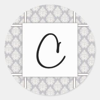 con·grat·u·la·tion & Patterns Classic Round Sticker