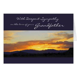 Con la condolencia más profunda en la pérdida de tarjeta de felicitación