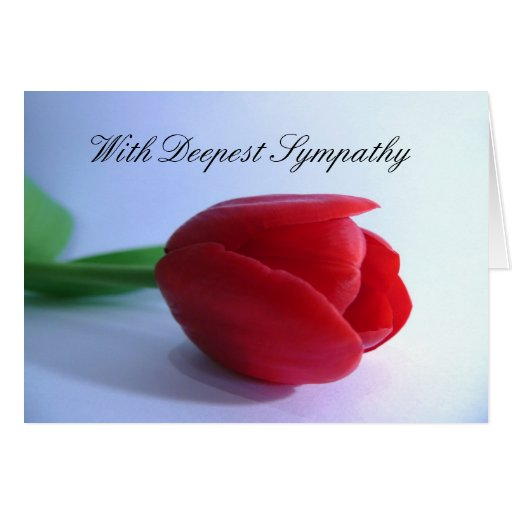 Con la condolencia más profunda tarjeta de felicitación