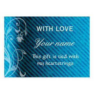 Con la etiqueta del regalo del amor plantilla de tarjeta de visita