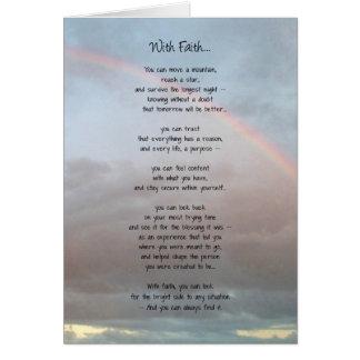 Con la fe… tarjeta de felicitación