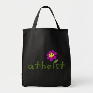 (Con la flor feliz) bolsos ateos Bolsas De Mano