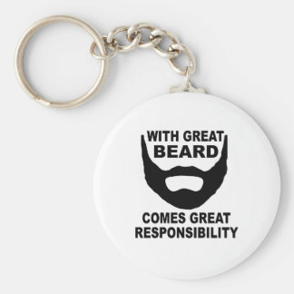 Con la gran barba viene la gran responsabilidad llavero redondo tipo pin