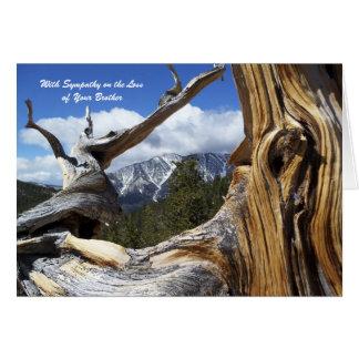 Con la pérdida de la condolencia de montaña de tarjeta de felicitación