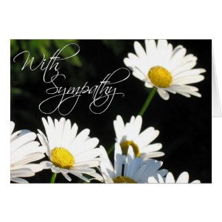 Con la tarjeta de felicitación de la condolencia