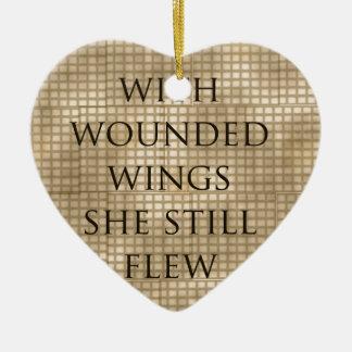 Con las alas heridas ella voló el estímulo ornamentos para reyes magos