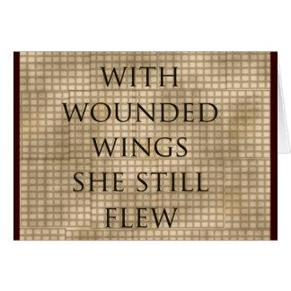 Con las alas heridas ella voló el estímulo tarjeta de felicitación