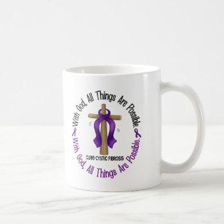 CON las camisetas y los regalos de la fibrosis quí Taza De Café