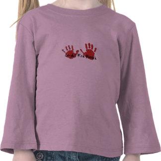 Con las manos en la masa cogida blusa de manga camisetas