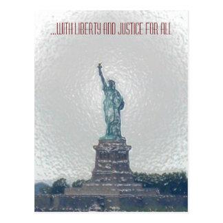 … con libertad y justicia para todos postales