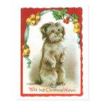 Con los mejores deseos del navidad tarjetas postales
