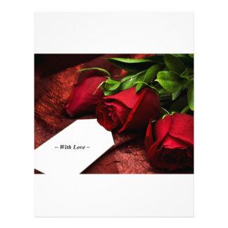 Con los rosas rojos del amor