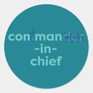 Con Man In Chief Classic Round Sticker