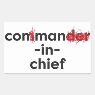 Con Man In Chief Rectangular Sticker