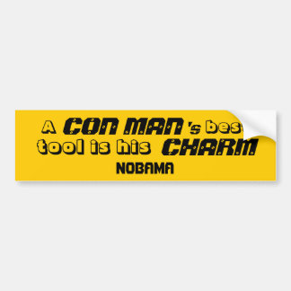 CON MAN OBAMA BUMPER STICKER