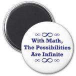 Con matemáticas, las posibilidades son infinitas iman