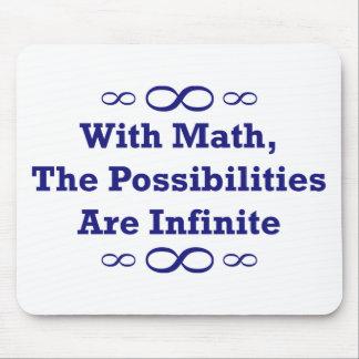 Con matemáticas las posibilidades son infinitas alfombrillas de ratón