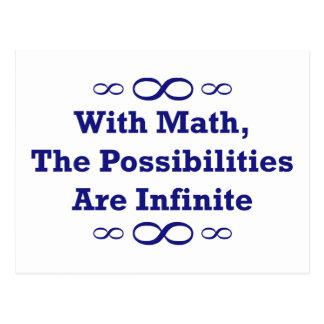 Con matemáticas, las posibilidades son infinitas tarjeta postal