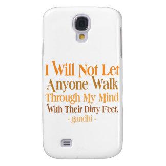 Con mi cita Gandhi de la mente Funda Para Galaxy S4