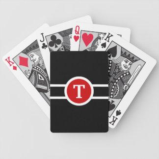 Con monograma baraja de cartas