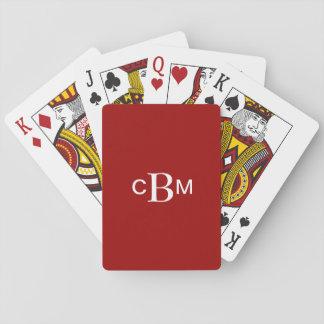 Con monograma clásico cartas de póquer