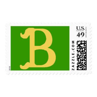 Con monograma con la letra B Estampillas