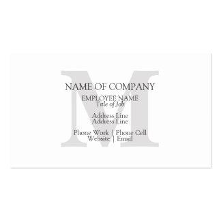 Con monograma elegante clásico elegante del tarjetas de visita