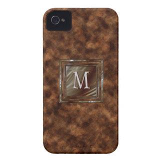 Con monograma masculino exclusivo de la falsa Case-Mate iPhone 4 cárcasas