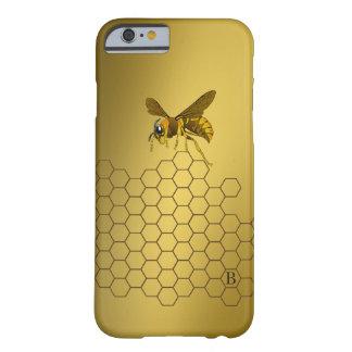 Con monograma personalizada abeja de la colmena funda barely there iPhone 6