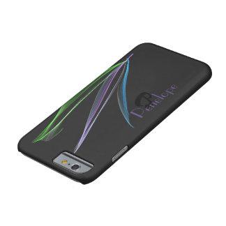 Con monograma personalizada extracto en colores funda para iPhone 6 barely there