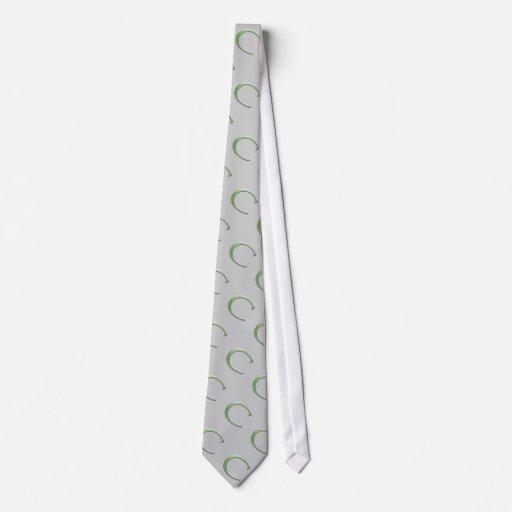 Con monograma verde y gris corbatas personalizadas