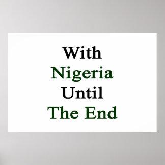 Con Nigeria hasta el extremo Póster