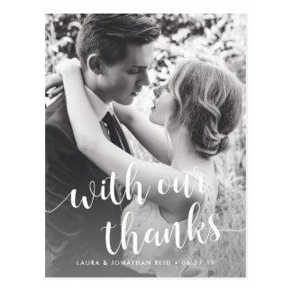 Con nuestra foto que se casa de las gracias el | tarjeta postal