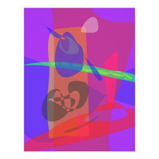 """Con púrpura del amor folleto 8.5"""" x 11"""""""
